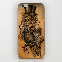 Owl tattoo cute gentleman  iPhone Skin
