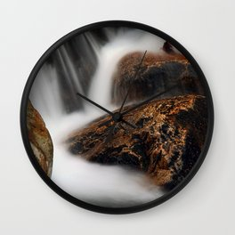 Flowing Along Wall Clock
