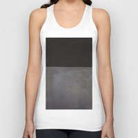 rothko Tank Tops featuring Mark Rothko Black on Grey by Angelina Fenty