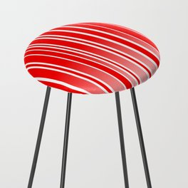 Red Track Counter Stool