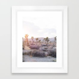 Joshua Tree Diptych [Left Side] Framed Art Print