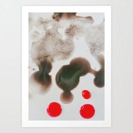 Paint Blots 4 Art Print