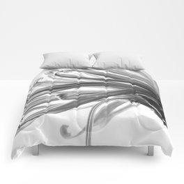 Spider Mum Black and White 2 Comforters