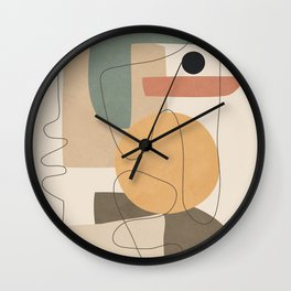Abstract Minimal Shapes 24 Wall Clock