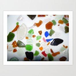 Parti Colour Seaglass Art Print