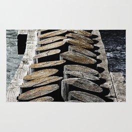 Wooden Posts Across the Water Rug