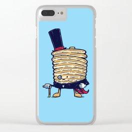 Fancy Captain Pancake Clear iPhone Case