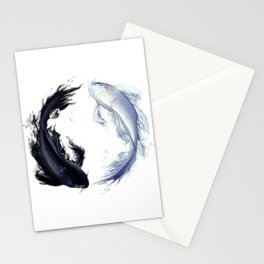 Yin Yang Carps Stationery Cards