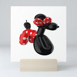 Balloon dog sculpture magic Mini Art Print