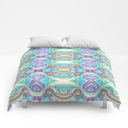 Design 126 blue abstract Comforters