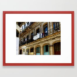 """Havana"" Laundry Day  Framed Art Print"