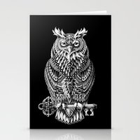 bioworkz Stationery Cards featuring Great Horned Owl by BIOWORKZ