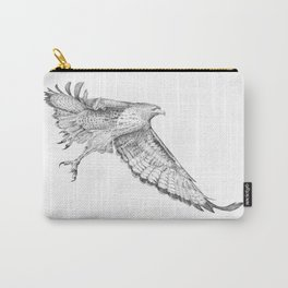 Red Tail Hawk in Flight Carry-All Pouch