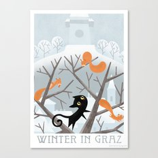 Winter in Graz Canvas Print