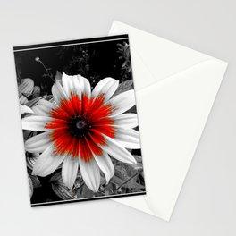 Flower | Flowers | Red Stroke Gaillardia | Red and White Flower | Nadia Bonello Stationery Cards