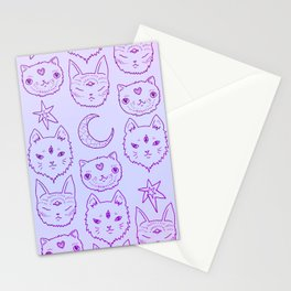 Kitty Mystics in Pink Stationery Cards