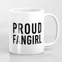 fangirl Mugs featuring FANGIRL by The Fandom Designs
