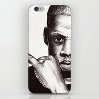jay z iPhone & iPod Skins featuring Jay by Daniel Hughes