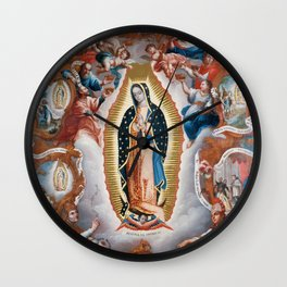 Virgin of Guadalupe, 1779 - Mexican Artwork Wall Clock