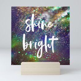 Shine bright glitter background Mini Art Print