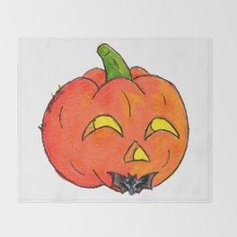 Pumpkin Groom Throw Blanket