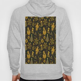 christmas background gold Hoody