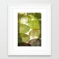 beth hoeckel Framed Art Prints featuring Beth by FYLLAYTA, surface design,Tina Olsson