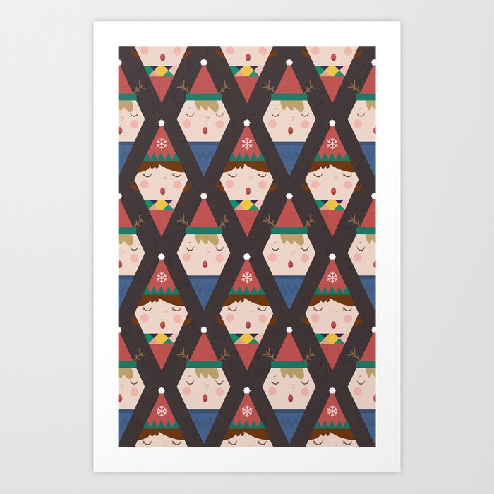 A Christmas Carol (Patterns Please) Art Print