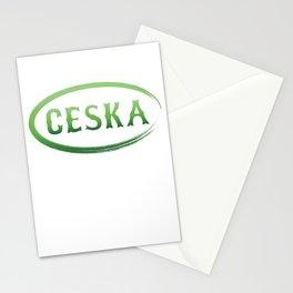 Czech Republic Ceska Village Patriotism Czechs Patriot Nationalism Gift Stationery Cards