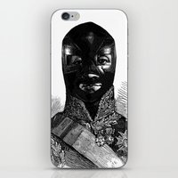 wrestling iPhone & iPod Skins featuring Wrestling mask 1 by DIVIDUS