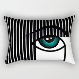 Woman's Profile Rectangular Pillow