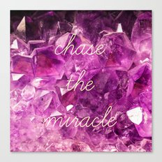 chase the miracle on minerals Canvas Print