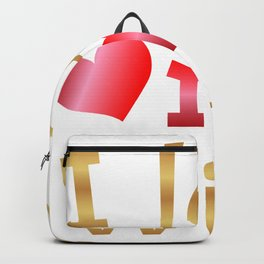 Valentine's Sublimation I Love My Wife Backpack
