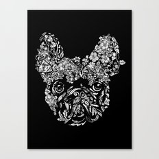 Botanical frenchie Canvas Print