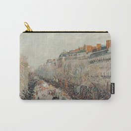 Mardi Gras on Monmartre Boulevard in Paris by Camille Pissarro Carry-All Pouch