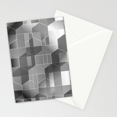 HexiPlaid Silver Stationery Cards
