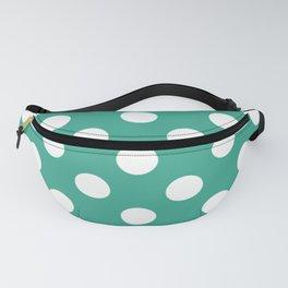 Zomp - green - White Polka Dots - Pois Pattern Fanny Pack