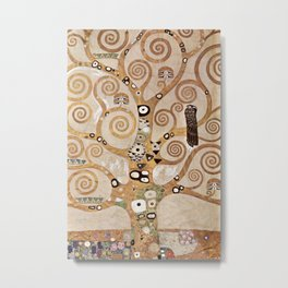 Gustav Klimt - Lebensbaum Metal Print