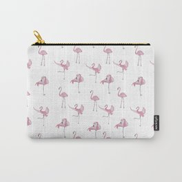 Pink Flamingo Pattern Carry-All Pouch