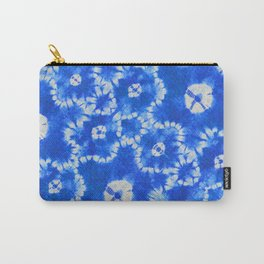tie dye florals in ultramarine Carry-All Pouch