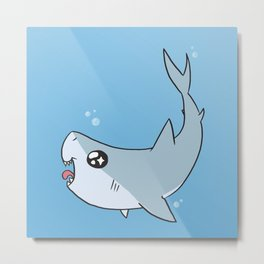 Happy Shark Metal Print