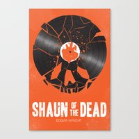 shaun of the dead Canvas Prints featuring Shaun of the dead by Wharton