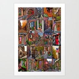 Beacon Hill Collage 2 Art Print