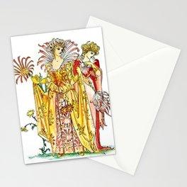 Vintage Tiger-Lily Lady Goddess Stationery Cards