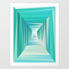 Ocean Tunnel Art Print