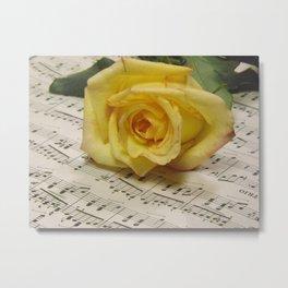 Classical Rose Metal Print