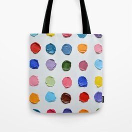 Rainbow Polka Daubs Tote Bag