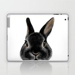 Netherland Dwarf rabbit Black, illustration original painting print Laptop & iPad Skin