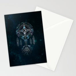 Mystical Alchemy Tree Ornament - marble and silver Stationery Cards