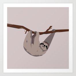 Sloth just hangin' Art Print